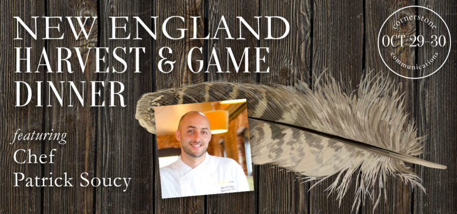 new england harvest and game dinner